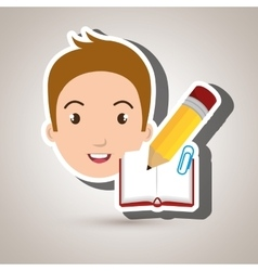 student school element icon vector image