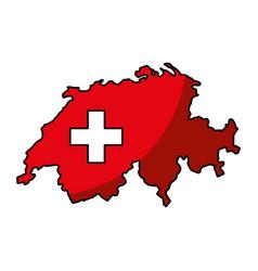 Switzerland map isolated icon vector