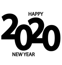 symbols beginning new 2020 year vector image