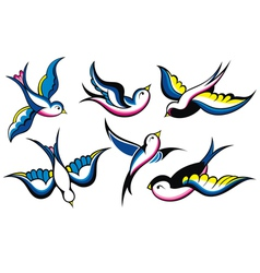 Tattoo Style Swallow vector