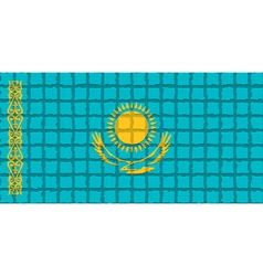 The mosaic flag of Kazakhstan vector