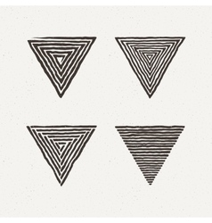 Triangle textures set vector