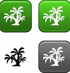 Tropical button vector
