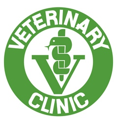 veterinary clinic symbol vector image