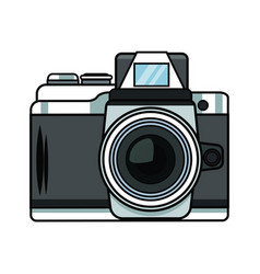 Vintage photographic camera pop art vector