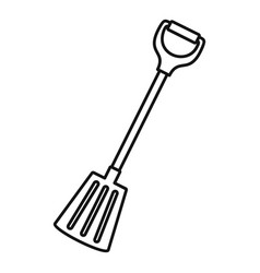 winter spade icon outline style vector image