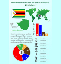 zimbabwe infographics for presentation all vector image