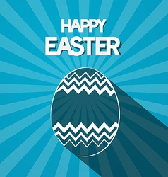 Happy Easter Paper Egg on Retro Blue Background vector image vector image