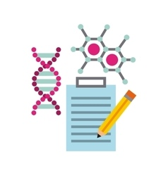 molecule particule laboratory icon vector image vector image