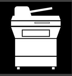 Multifunction printer or automatic copier icon vector