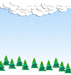 Paper winter wood vector image vector image