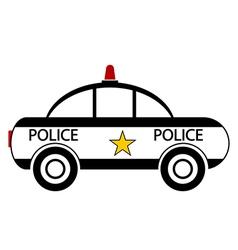 Police car vector image