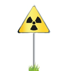 Radiation sign icon vector image vector image