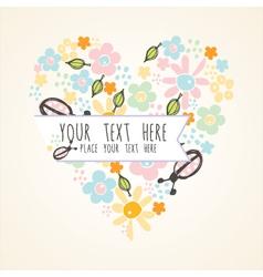 romantic card copy vector image vector image