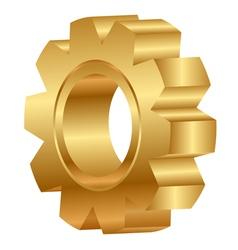 3d of golden cog wheel vector image vector image