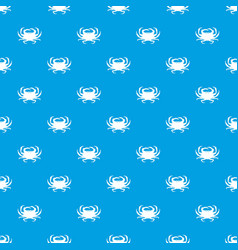 crab pattern seamless blue vector image vector image