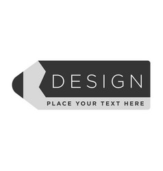 Design company logotype in shape of isolated vector