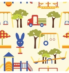 Icons set of playground equipments pattern vector image vector image