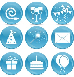 Party web icons vector image vector image