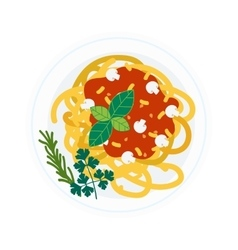 Pasta dish vector image vector image