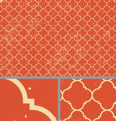 Vintage orange worn seamless pattern background vector