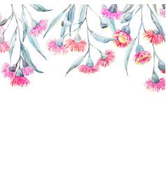 watercolor eucalyptus frame vector image vector image