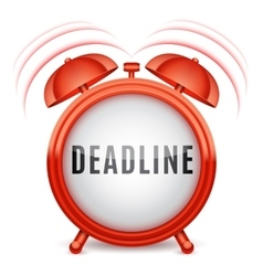 Alarm Clock with Deadline Word vector image vector image