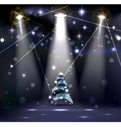 dark Christmas Stage vector image