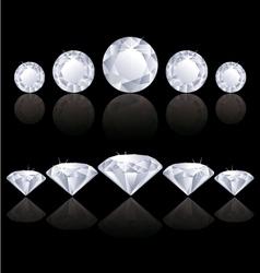 Diamonds lines vector image vector image
