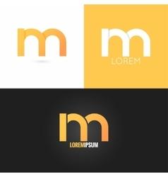 letter M logo design icon set background vector image vector image