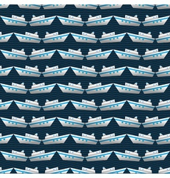 Seamless pattern with yachts vector image vector image