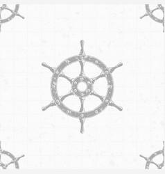 Ship steering wheel background vector