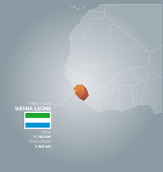 sierra leone information map vector image