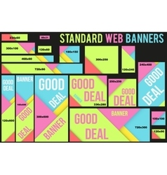 Standard Web Banners Templates vector image