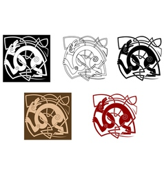 Celtic dog with knots vector image vector image