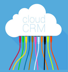cloud crm solution template vector image vector image
