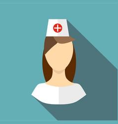 nurse icon flat style vector image