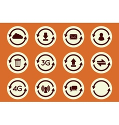 Update icons vector image