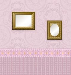 wooden frames vector image