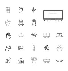 22 track icons vector
