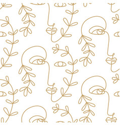 abstract faces seamless pattern texture vector image