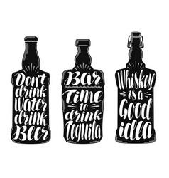 alcohol drink beverage label set collection vector image