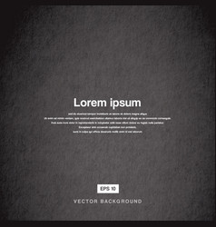Background design texture of the old paper black vector