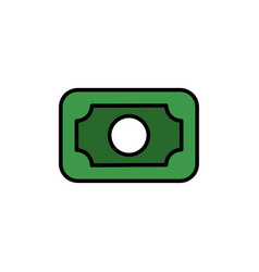 banknote color icon vector image