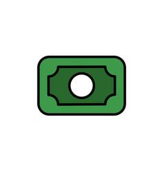 banknote color icon vector image