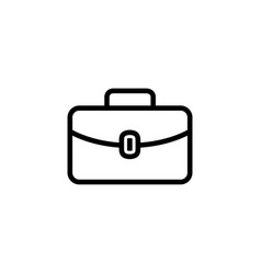 briefcase line icon in flat style for apps ui vector image