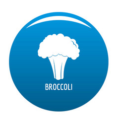 broccoli icon blue vector image
