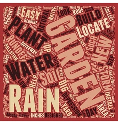 Build a Rain Garden text background wordcloud vector