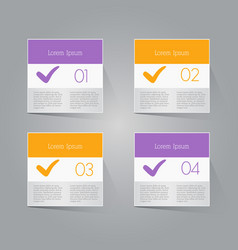 Business infographics template purple and orange vector