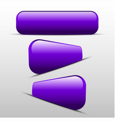 Button purple for web vector